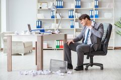 The angry businessman shocked working in the office fired sacked. Angry businessman shocked working in the office fired sacked Stock Photos