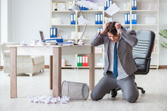 The angry businessman shocked working in the office fired sacked Royalty Free Stock Photo