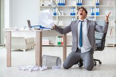 The angry businessman shocked working in the office fired sacked Stock Photos