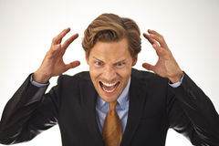 Angry businessman shouting Royalty Free Stock Photography