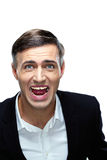 Angry businessman shouting Stock Photography