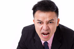 Angry businessman shouting, screaming Royalty Free Stock Image