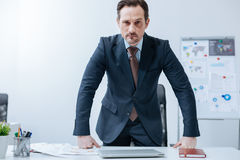 Angry businessman showing his discontent in the office Stock Image