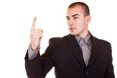 Angry businessman threatening Stock Image