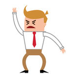 angry businessman yelling icon Stock Photography