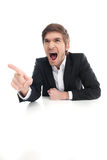 Angry businessman. Stock Photography