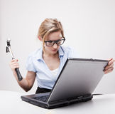 Angry Businesswoman Stock Image