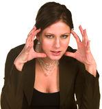 Angry businesswoman Royalty Free Stock Photo