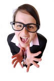 Angry businesswoman Royalty Free Stock Image