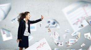 angry businesswoman Στοκ Εικόνα