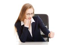 angry businesswoman Στοκ Εικόνες