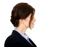 Angry businesswoman accuses her partner. Stock Images