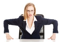 Angry businesswoman Royalty Free Stock Images