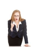 Angry businesswoman Stock Photo