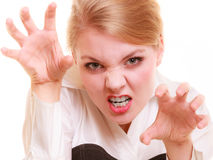Angry businesswoman furious woman screaming Royalty Free Stock Photo