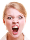 Angry businesswoman furious woman screaming Stock Images