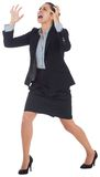 Angry businesswoman gesturing Stock Photography