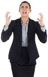 Angry businesswoman gesturing Royalty Free Stock Images