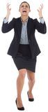 Angry businesswoman gesturing Royalty Free Stock Photos