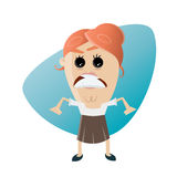 Angry businesswoman. Illustration of an angry businesswoman Stock Images