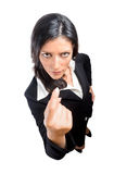 Angry businesswoman isolated Royalty Free Stock Image