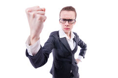 Angry businesswoman isolated Stock Photography