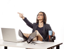 Angry businesswoman Royalty Free Stock Photos