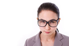 Angry businesswoman looking at you Stock Photography