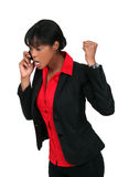 An angry businesswoman Royalty Free Stock Images