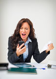 Angry businesswoman. Royalty Free Stock Photography