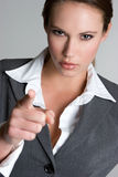 Angry Businesswoman Pointing Royalty Free Stock Photos