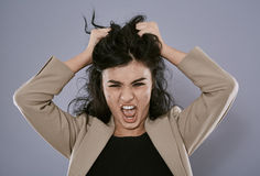 Angry businesswoman portrait Royalty Free Stock Image