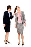Angry businesswoman pulls her friends hair. Royalty Free Stock Photography