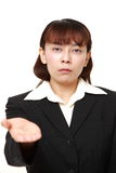 Angry businesswoman requests something Royalty Free Stock Photo