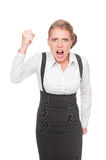 Angry businesswoman screaming Stock Image