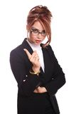 Angry businesswoman/secretary/teacher Royalty Free Stock Photos