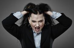 angry businesswoman shouting Στοκ φωτογραφία με δικαίωμα ελεύθερης χρήσης