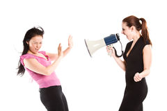 Angry businesswoman shouting Royalty Free Stock Image