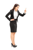 Angry businesswoman threatening with finger Stock Photography