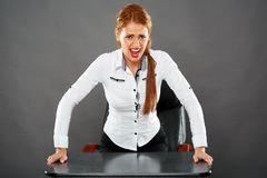 Angry businesswoman Royalty Free Stock Photography