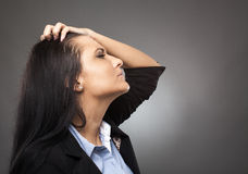 Angry businesswoman Stock Photos