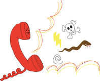 Angry Call. Rage at the phone. Distressing answer from someone Stock Images