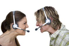 Angry Call Centre People Stock Image