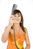 Angry Caller Stock Photography