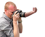 Angry camera royalty free stock images