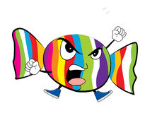 Angry Candy cartoon Stock Photography