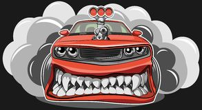 Angry car Stock Images
