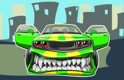 Angry car Stock Photography