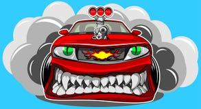 Angry car Stock Image