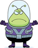 Angry Cartoon Alien Stock Image